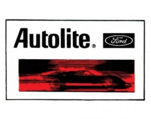 Decal, Ford Autolite, 1-1/2 X 2-1/2
