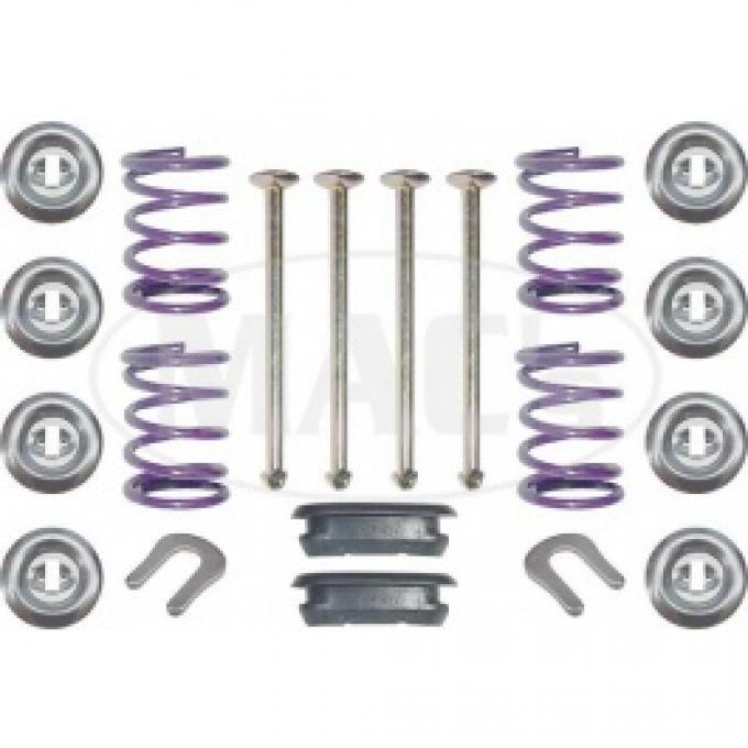 Ford Thunderbird Brake Shoe Hold Down Kit, Front, 20 Pieces, 1955-60