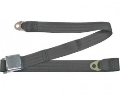 "Seatbelt Solutions 1949-1979 Ford | Mercury, Lap Belt, 60"" with Chrome Lift Latch 1800606009 