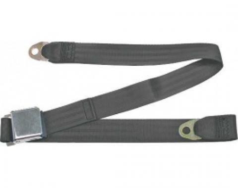 "Seatbelt Solutions 1949-1979 Ford | Mercury, Lap Belt, 60"" with Chrome Lift Latch 1800606009 | Charcoal"