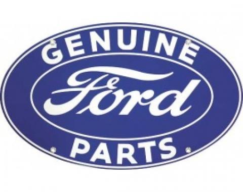 Genuine Ford Parts Sign, Single Sided, 18 x 12-1/2