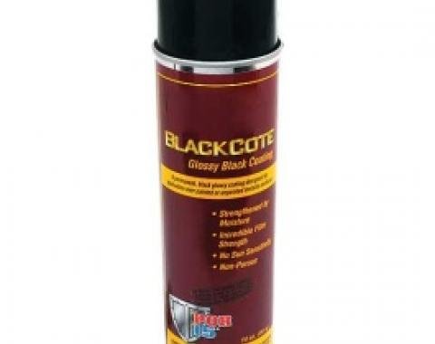 POR-Brand Paint, BlackCote, Gloss Black, 14 Oz. Spray Can