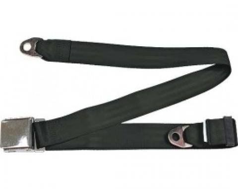"Seatbelt Solutions 1949-1979 Ford | Mercury Lap Belt, 74"" with Chrome Lift Latch 1800741000 
