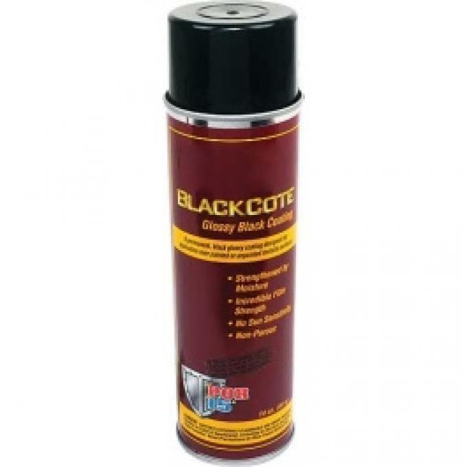 POR-Brand Paint, BlackCote, Gloss Black, 14 Oz. Spray Can