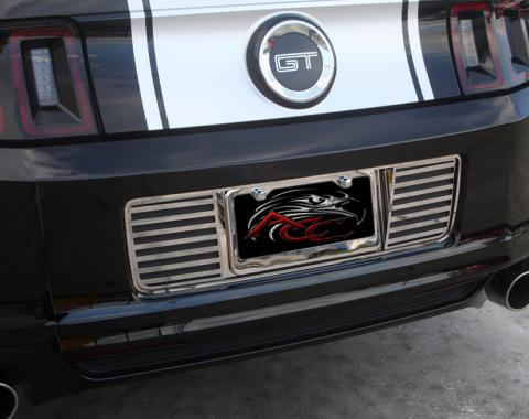 American Car Craft Ford Mustang 2013-2013  Tag Back Slotted Polished Stainless 272023