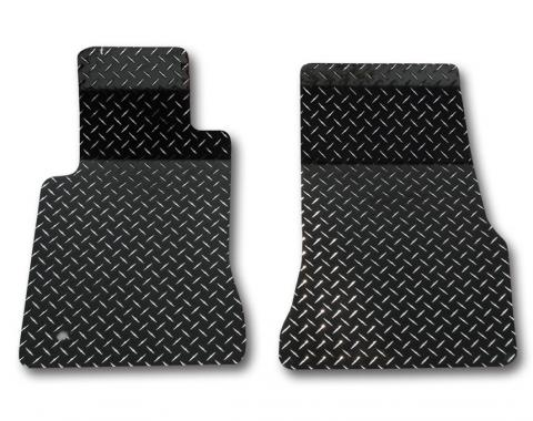 American Car Craft Ford Mustang 2005-2009  Floor Mats Diamond Plate Powder Coated 2pc Black 271009-BLK