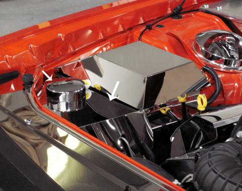 American Car Craft Anti Lock Brake/Washer Fluid Cover Polished w/cap 153017