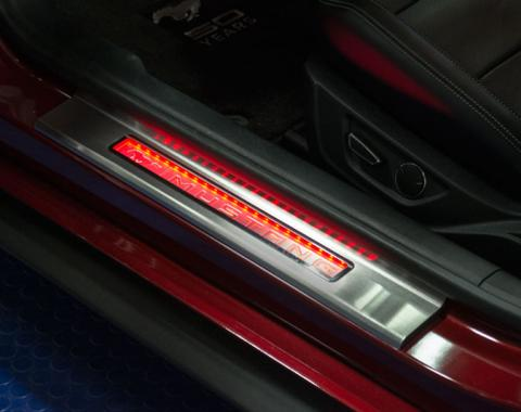American Car Craft Ford Mustang 2009-2015  Door Sills Illum. 2pc Yellow Led 271037-YLWL
