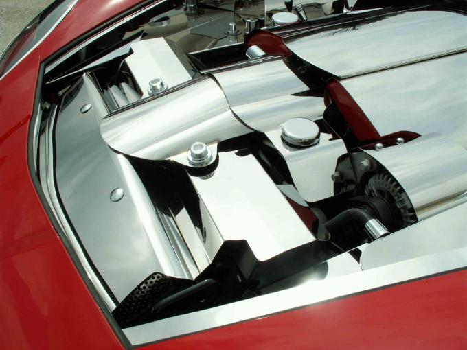 American Car Craft Radiator Cover Polished Component 2pc 05-07 043041
