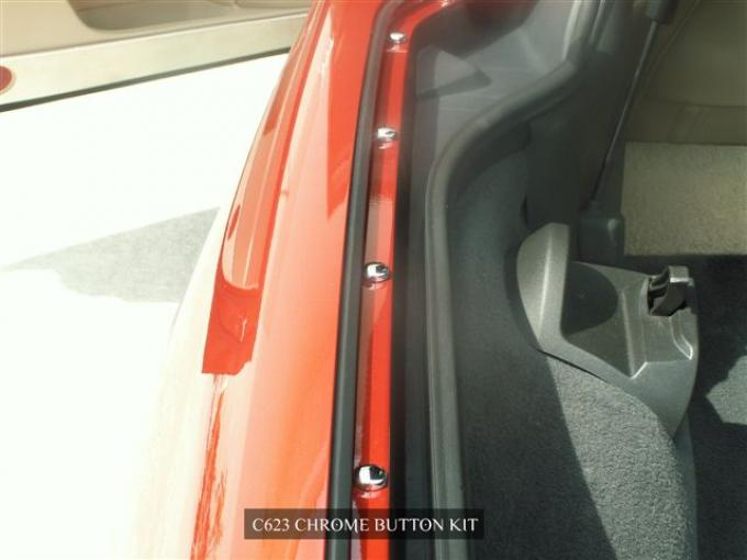 American Car Craft Button Kit Chrome 60pc 041030