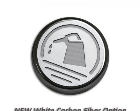 American Car Craft Ford Mustang 2005-2009  Cap Cover Set Carbon Fiber Executive Series Automatic 5pc CF White 273041-WHT