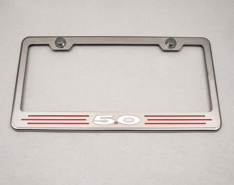 American Car Craft Rear Tag Frame Ford 5.0 Bright Red Solid 272028-BSRD