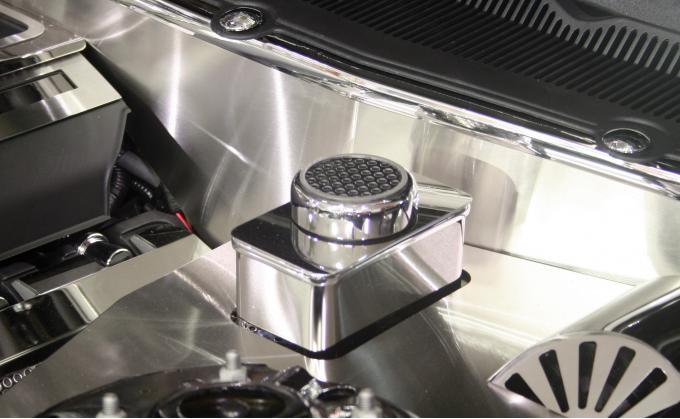 American Car Craft Ford Mustang 2011-2012  Master Cylinder Cover Polished w/ chrome cap 273016