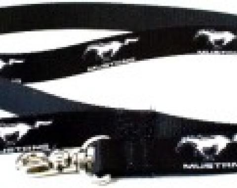 Ford Mustang, 4 Foot Dog Leash, Black and White