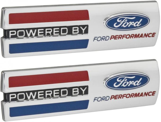 """Mustang """"Powered By Ford Performance"""" 5.5"""" Emblems, Chrome"""