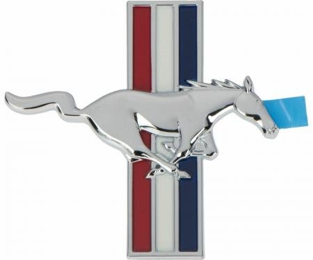 Mustang Fender Emblem, Tri-Bar Running Horse, Right, 1999-2004