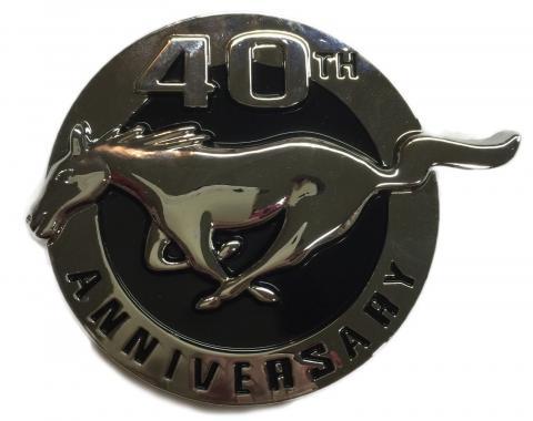 Mustang Fender Emblem, Left, 40th Anniversary, 2004
