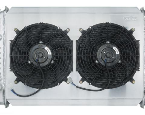 Cold Case Radiators 1971-1973 Ford Mustang V8 Aluminum Radiator 26 Inch Manual Transmission Dual 12 Inch Fans FOM578K