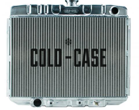 Cold Case Radiators 67-70 Mustang BB 24 Inch Aluminum Performance Radiator AT FOM588A