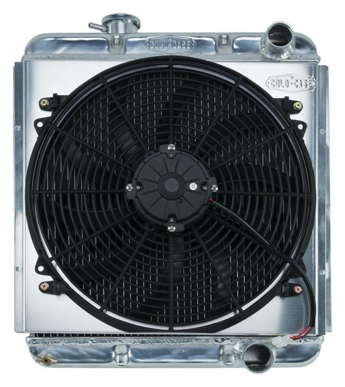 Cold Case Radiators 65-66 Ford Mustang 289 Aluminum Performance Radiator And 16 Inch Fan Kit AT FOM564K