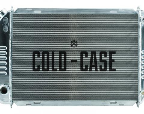 Cold Case Radiators 1987-1993 Ford Mustang Aluminum Radiator with 2 Rows of 1 Inch Tubes Manual Transmission LMM570-1