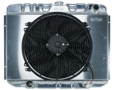 Cold Case Radiators 67-70 Mustang BB 24 Inch Aluminum Performance Radiator And 16 Fan Kit MT FOM588K