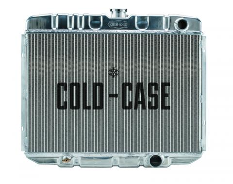 Cold Case Radiators 67-70 Mustang SB 24 Inch Aluminum Performance Radiator MT FOM587