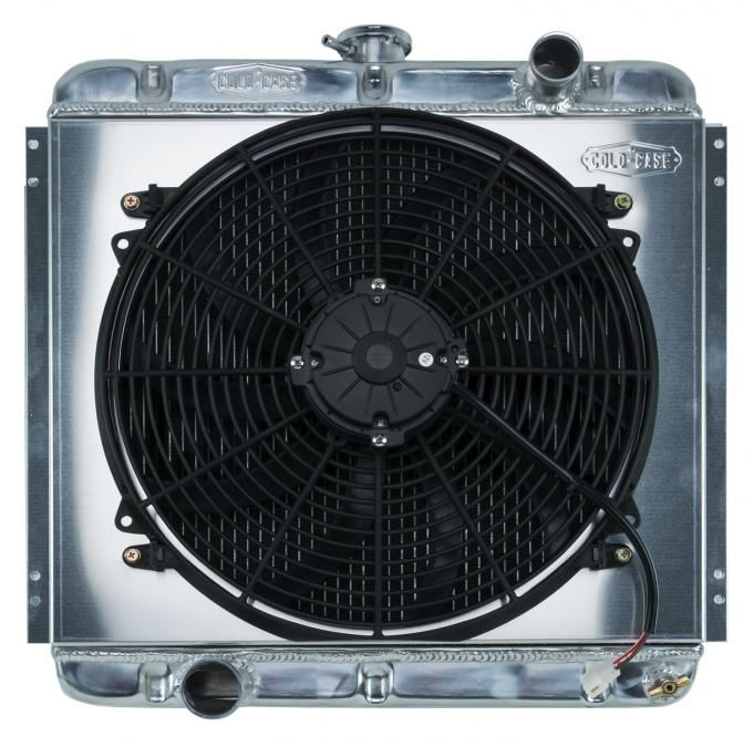 Cold Case Radiators 67-69 Mustang 20 Inch Aluminum Performance Radiator And 16 Inch Fan Kit MT FOM560K