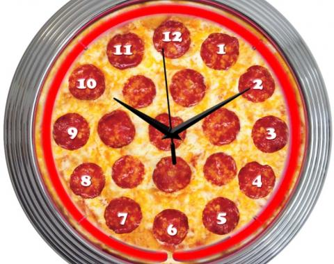 Neonetics Neon Clocks, Pizza Neon Clock