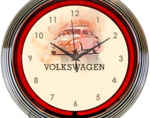 Neonetics Neon Clocks, Volkswagen Beetle Neon Clock
