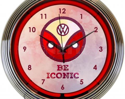 Neonetics Neon Clocks, Volkswagen Be Iconic Neon Clock