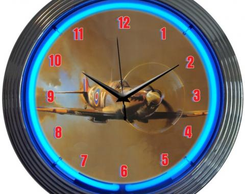 Neonetics Neon Clocks, Spit Fire Neon Clock
