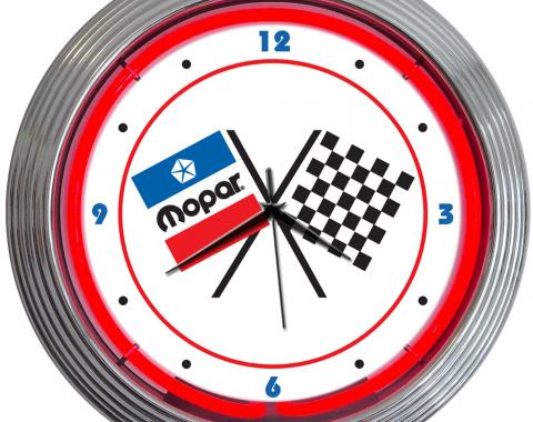 Neonetics Neon Clocks, Mopar Checkered Flag Neon Clock