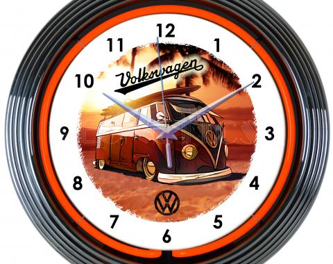 Neonetics Neon Clocks, Volkswagen Bus Neon Clock