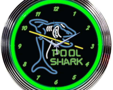 Neonetics Neon Clocks, Pool Shark Neon Clock