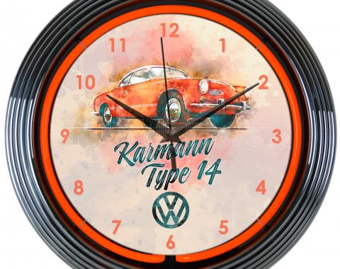 Neonetics Neon Clocks, Volkswagen Karmann Neon Clock