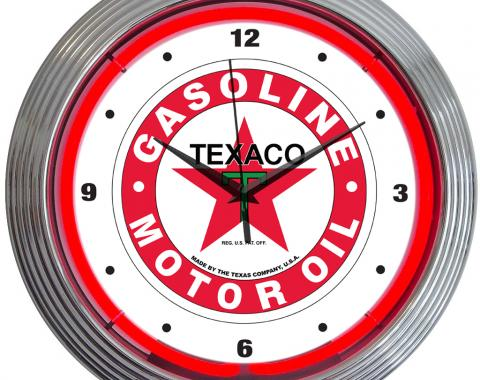 Neonetics Neon Clocks, Texaco Gasoline Neon Clock