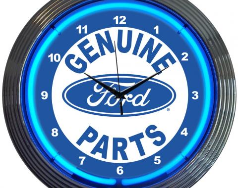 Neonetics Neon Clocks, Ford Genuine Parts Neon Clock