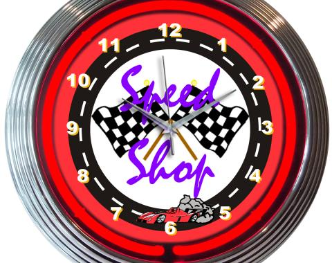 Neonetics Neon Clocks, Speed Shop Neon Clock