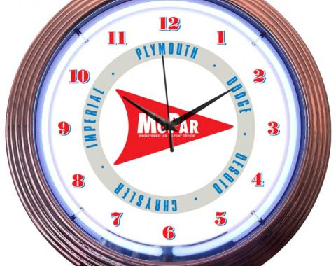 Neonetics Neon Clocks, Mopar Arrow Neon Clock