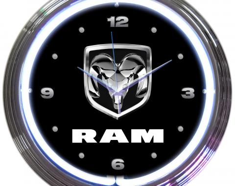 Neonetics Neon Clocks, Ram Neon Clock