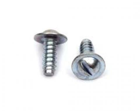 "License Plate Screw, Thread Size; 1/4""(# 14) x 3/4"""