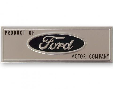 Scott Drake 1964-1966 Ford Mustang 64-66 Door Sill Scuff Plate Emblem (Black) C5ZZ-6513208-T