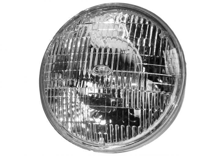 "Scott Drake 1964-73 Mustang 7"" Round Halogen Sealed Beam Headlamp C0DZ-13007-A"