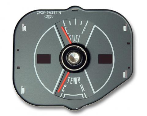Scott Drake 70 Mustang fuel/temp gauge-gray D0ZF-9A284