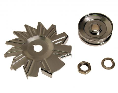 Scott Drake 1965-1973 Ford Mustang Alternator Fans & Pulleys (4 Piece kit) C5ZZ-10A310/44C