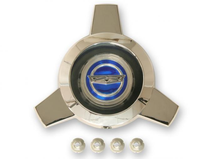 Scott Drake 1965-1966 Ford Mustang Wire Spoke Center Cap Only (Blue center) C5AZ-1141-A