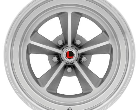 Legendary Wheels 1964-1973 Ford Mustang 15 x 7 Legendary GT9 Alloy Wheel, 5 on 4.5 BP, 4.25 BS, Natural LW69-50754C