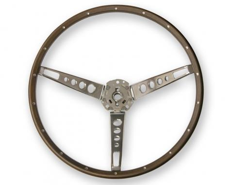 Scott Drake 1965-1966 Ford Mustang Deluxe Steering Wheel (Wood) C5ZZ-3600-N