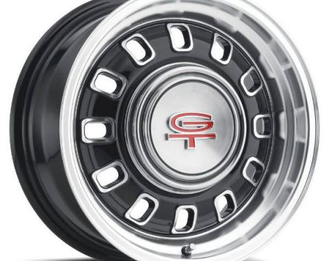 "Legendary Wheels 1964-1973 Ford Mustang LW 60 15x7 12 Slot Rim 4x4.5"" Black LW60-50744A"
